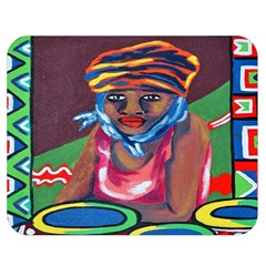 Ethnic Africa Art Work Drawing Double Sided Flano Blanket (medium)  by Celenk