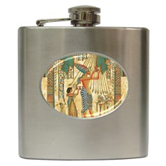 Egyptian Man Sun God Ra Amun Hip Flask (6 Oz) by Celenk