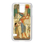 Egyptian Man Sun God Ra Amun Samsung Galaxy S5 Case (White) Front