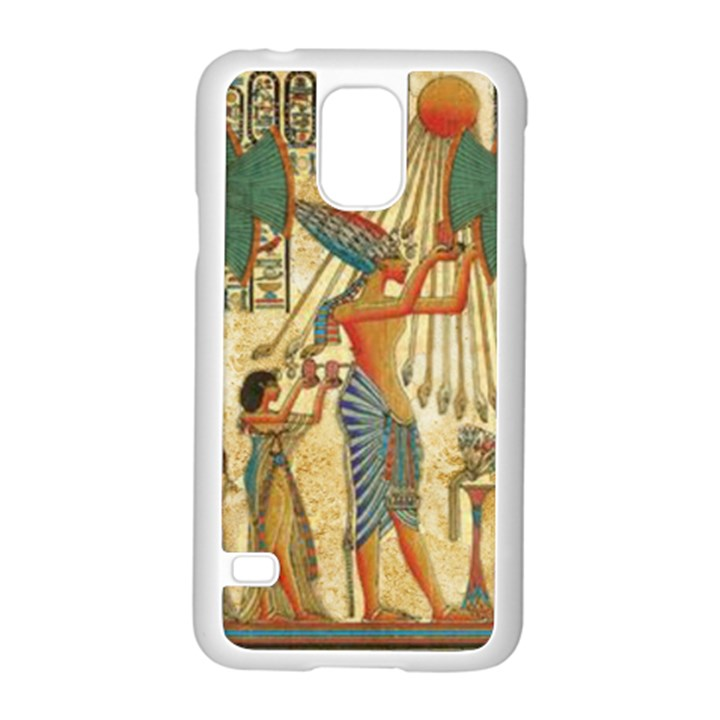 Egyptian Man Sun God Ra Amun Samsung Galaxy S5 Case (White)