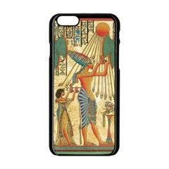Egyptian Man Sun God Ra Amun Apple Iphone 6/6s Black Enamel Case by Celenk