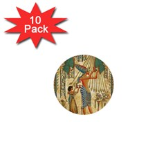 Egyptian Man Sun God Ra Amun 1  Mini Buttons (10 Pack)  by Celenk