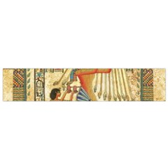 Egyptian Man Sun God Ra Amun Small Flano Scarf by Celenk