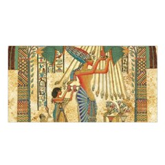 Egyptian Man Sun God Ra Amun Satin Shawl