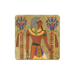 Egyptian Tutunkhamun Pharaoh Design Square Magnet