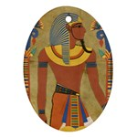 Egyptian Tutunkhamun Pharaoh Design Oval Ornament (Two Sides) Front