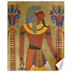 Egyptian Tutunkhamun Pharaoh Design Canvas 16  X 20   by Celenk