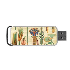 Egyptian Paper Papyrus Hieroglyphs Portable Usb Flash (one Side) by Celenk
