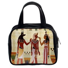 Egyptian Design Man Woman Priest Classic Handbags (2 Sides)