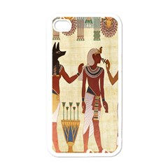 Egyptian Design Man Woman Priest Apple Iphone 4 Case (white) by Celenk
