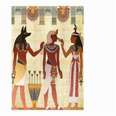 Egyptian Design Man Woman Priest Small Garden Flag (two Sides) by Celenk