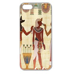 Egyptian Design Man Woman Priest Apple Seamless Iphone 5 Case (clear) by Celenk