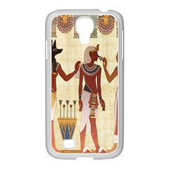 Egyptian Design Man Woman Priest Samsung Galaxy S4 I9500/ I9505 Case (white) by Celenk