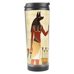 Egyptian Design Man Woman Priest Travel Tumbler by Celenk