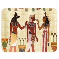 Egyptian Design Man Woman Priest Double Sided Flano Blanket (medium)  by Celenk