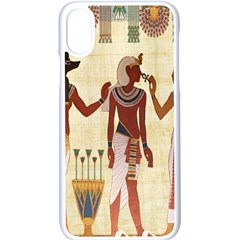 Egyptian Design Man Woman Priest Apple Iphone X Seamless Case (white) by Celenk
