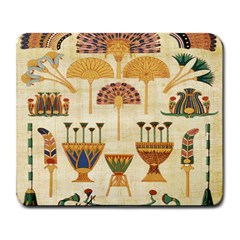 Egyptian Paper Papyrus Hieroglyphs Large Mousepads by Celenk