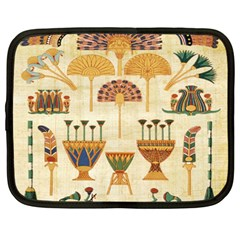 Egyptian Paper Papyrus Hieroglyphs Netbook Case (large) by Celenk