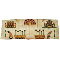 Egyptian Paper Papyrus Hieroglyphs Body Pillow Case Dakimakura (two Sides) by Celenk