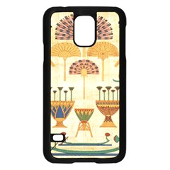 Egyptian Paper Papyrus Hieroglyphs Samsung Galaxy S5 Case (black) by Celenk