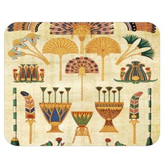 Egyptian Paper Papyrus Hieroglyphs Double Sided Flano Blanket (medium)  by Celenk