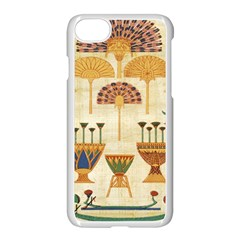 Egyptian Paper Papyrus Hieroglyphs Apple Iphone 8 Seamless Case (white) by Celenk