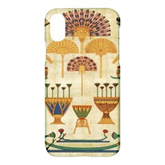 Egyptian Paper Papyrus Hieroglyphs Apple Iphone X Hardshell Case by Celenk
