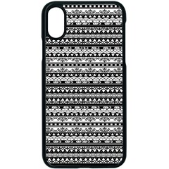 Zentangle Lines Pattern Apple Iphone X Seamless Case (black) by Celenk