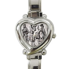 Man Ethic African People Collage Heart Italian Charm Watch by Celenk