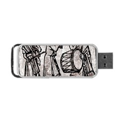 Man Ethic African People Collage Portable Usb Flash (two Sides) by Celenk
