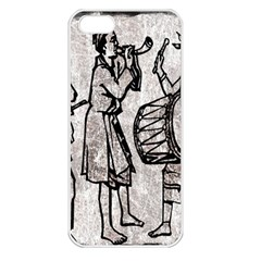 Man Ethic African People Collage Apple Iphone 5 Seamless Case (white) by Celenk