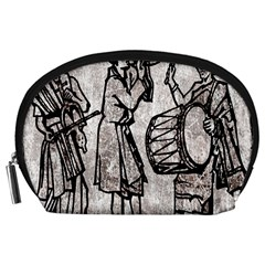 Man Ethic African People Collage Accessory Pouches (large)  by Celenk