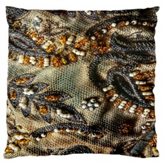 Texture Textile Beads Beading Large Flano Cushion Case (one Side) by Celenk