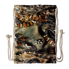 Texture Textile Beads Beading Drawstring Bag (large) by Celenk