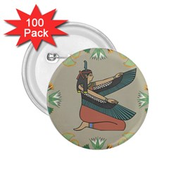 Egyptian Woman Wings Design 2 25  Buttons (100 Pack)  by Celenk