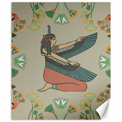 Egyptian Woman Wings Design Canvas 8  X 10  by Celenk