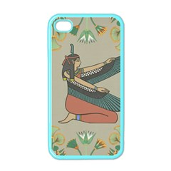 Egyptian Woman Wings Design Apple Iphone 4 Case (color) by Celenk