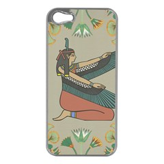 Egyptian Woman Wings Design Apple Iphone 5 Case (silver) by Celenk