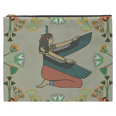 Egyptian Woman Wings Design Cosmetic Bag (xxxl)  by Celenk