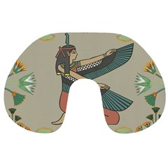 Egyptian Woman Wings Design Travel Neck Pillows by Celenk