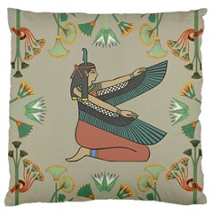 Egyptian Woman Wings Design Standard Flano Cushion Case (two Sides) by Celenk