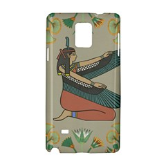 Egyptian Woman Wings Design Samsung Galaxy Note 4 Hardshell Case by Celenk