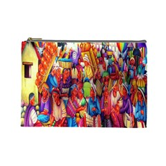 Guatemala Art Painting Naive Cosmetic Bag (large)