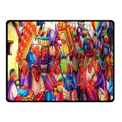 Guatemala Art Painting Naive Fleece Blanket (small) by Celenk