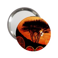 Africa Safari Summer Sun Nature 2 25  Handbag Mirrors