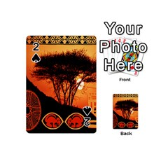 Africa Safari Summer Sun Nature Playing Cards 54 (mini)