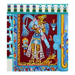 Mexico Puebla Mural Ethnic Aztec Shower Curtain 66  X 72  (large)  by Celenk