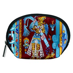 Mexico Puebla Mural Ethnic Aztec Accessory Pouches (medium)