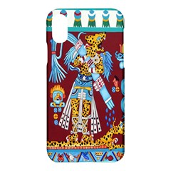 Mexico Puebla Mural Ethnic Aztec Apple Iphone X Hardshell Case by Celenk