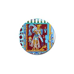 Mexico Puebla Mural Ethnic Aztec Golf Ball Marker (10 Pack) by Celenk